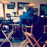 On the set of Castle