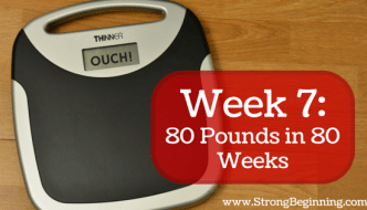 Week 7: Time for Serious Change