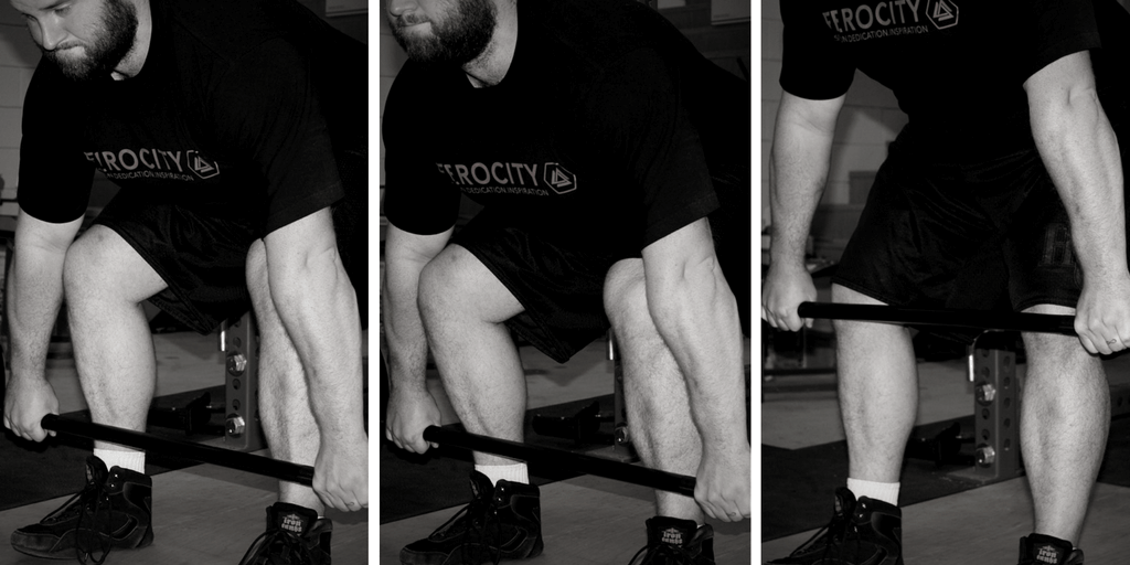 Shin position in the conventional deadlift