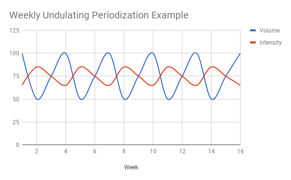 weekly undulating periodization example