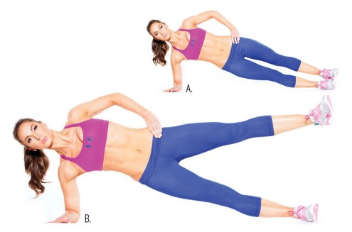 Image result for Side plank with leg raise