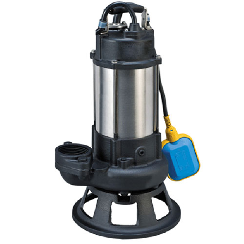 Automatic household raw sewage cutter pump