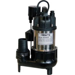 Small submersible sump drainage pump. Sewage ejector pump
