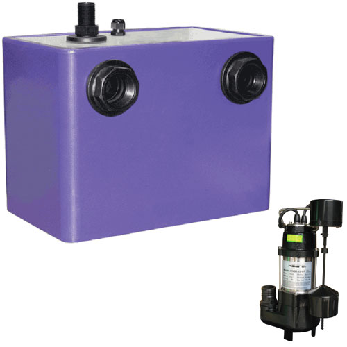 Reefe under sink pump system with RVS155-VF sumbersible pump and tank