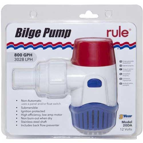 rule 800 bilge pump packaged