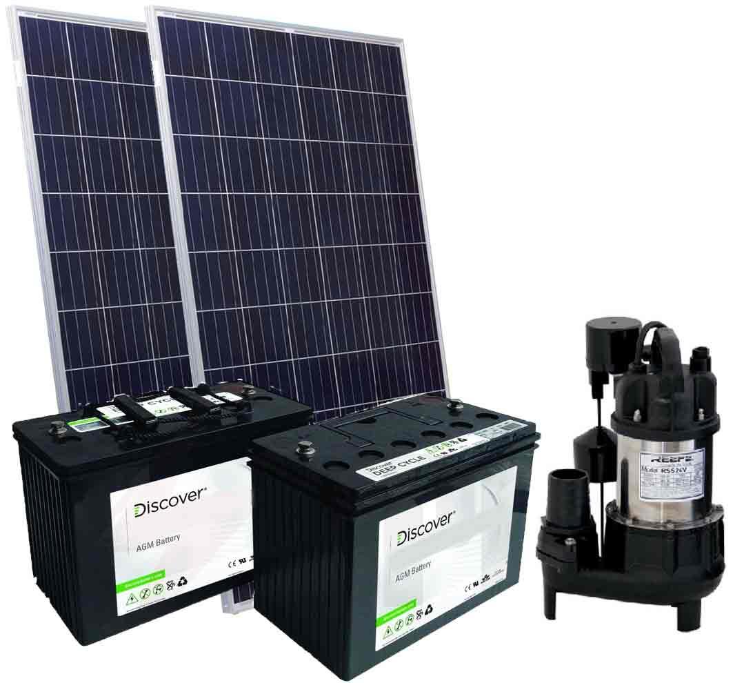 solar powered sump pump kit