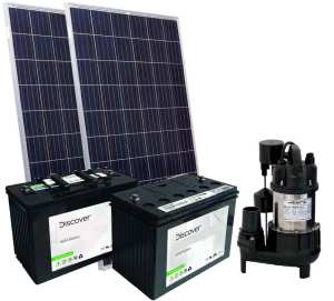 solar powered sump pump kit