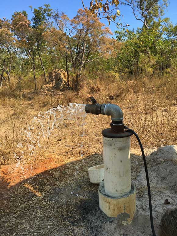 bore pump installation