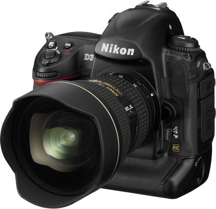 Nikon D3 side view