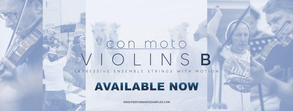 CON MOTO – VIOLINS B - Expressive Ensemble Strings with