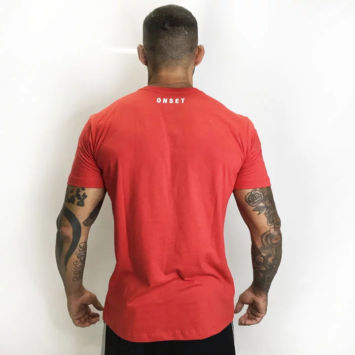 CAMISA ONSET FITNESS – WEIGHTLIFTING RED