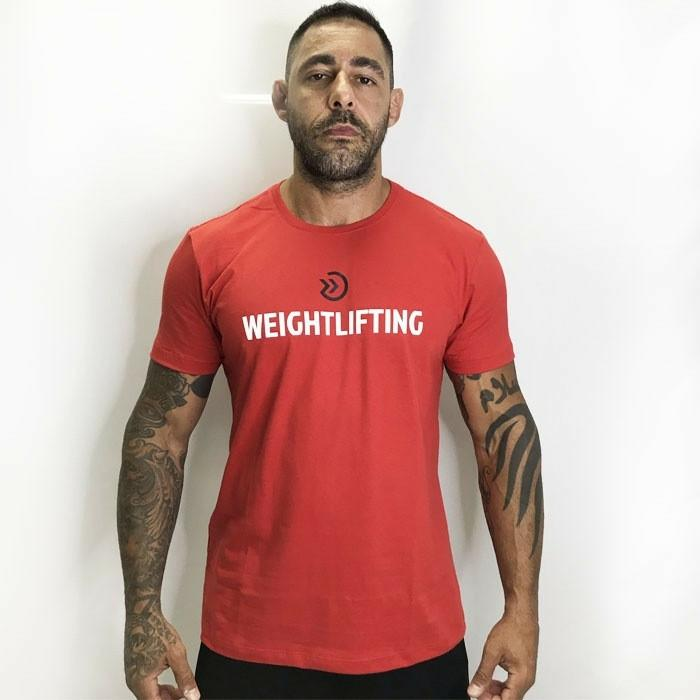 CAMISA ONSET FITNESS - WEIGHTLIFTING RED