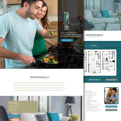 corona townhomes website design