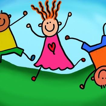 kinderen blij