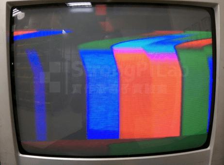 Sync不準的電視畫面