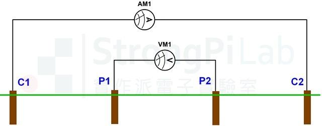 Ground resistance - 4 wires