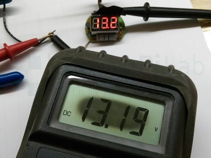 換上新的TL431之後, 電瓶檢測器 果然就比較準了