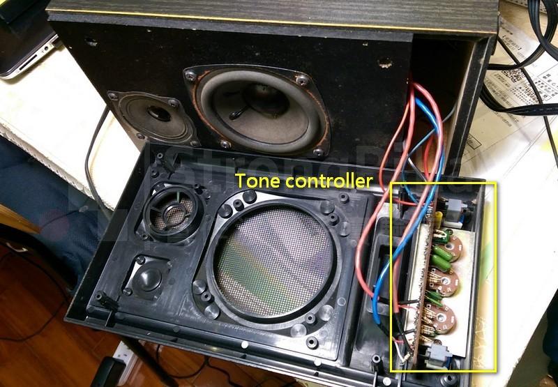 擴音喇叭 面板的調音電路