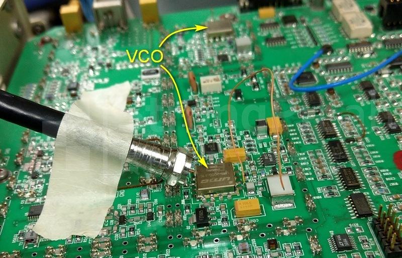 先挑下方的Voltage Control Oscillator (VCO)來偵測頻率