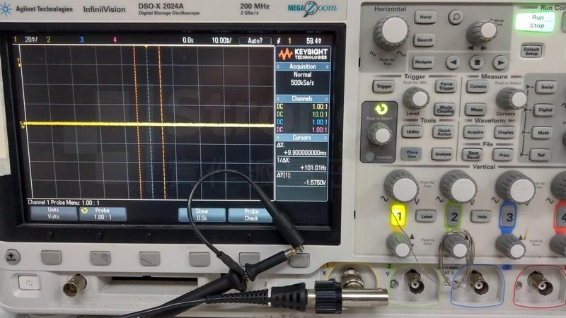 正常的示波器與探棒連接