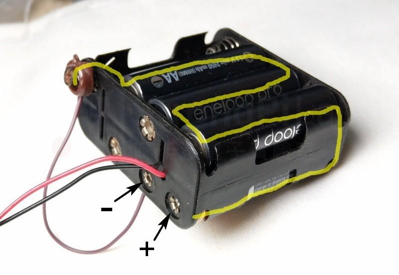 12V改裝為6V的電池盒