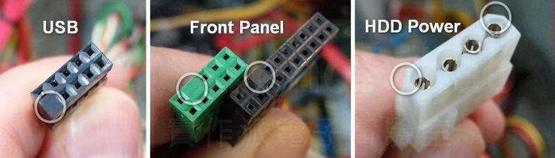 主機板接線的 防呆 機制