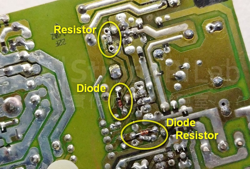 更換驅動電流路徑上的電阻和二極體