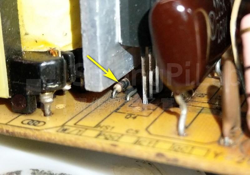 用來驅動主電晶體的電阻燒毀