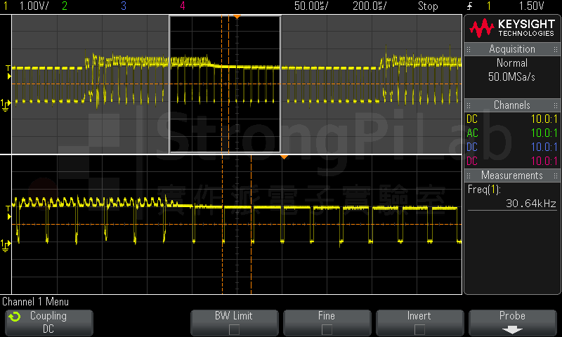電源IC的電流切換訊號正常