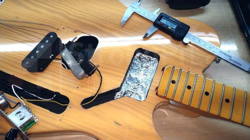 測量 電吉他 凹槽尺寸