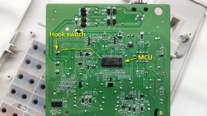 單純偵測Hook on/ff避開 電話雜音