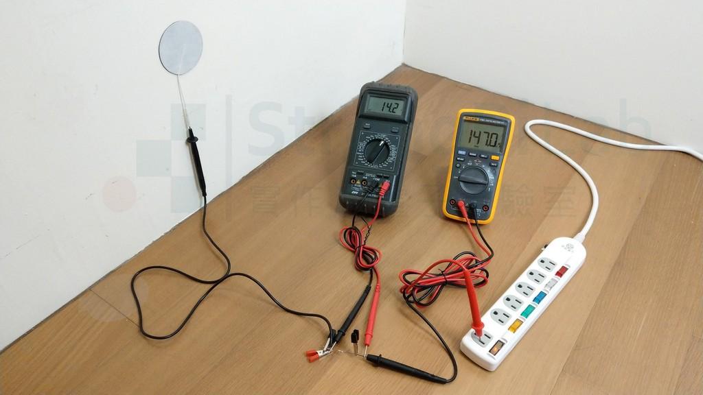 100k ohm負載產生的電流