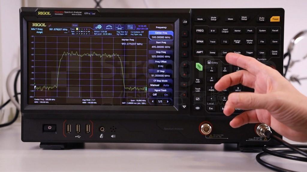 單一頻道的頻譜 Channel Power