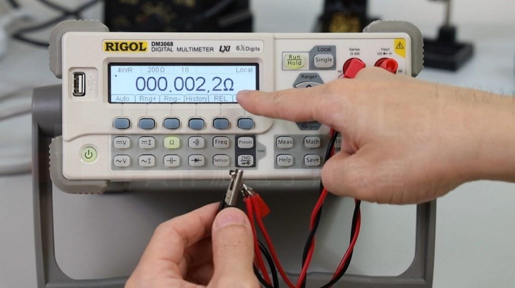 探棒短路時的電阻會些微變動