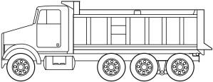 Tri Axle Straight Truck