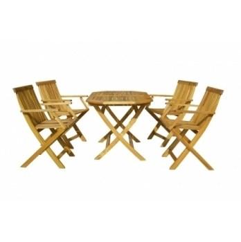 Masa Hecht Basic Set cu 4 scaune lemn masiv