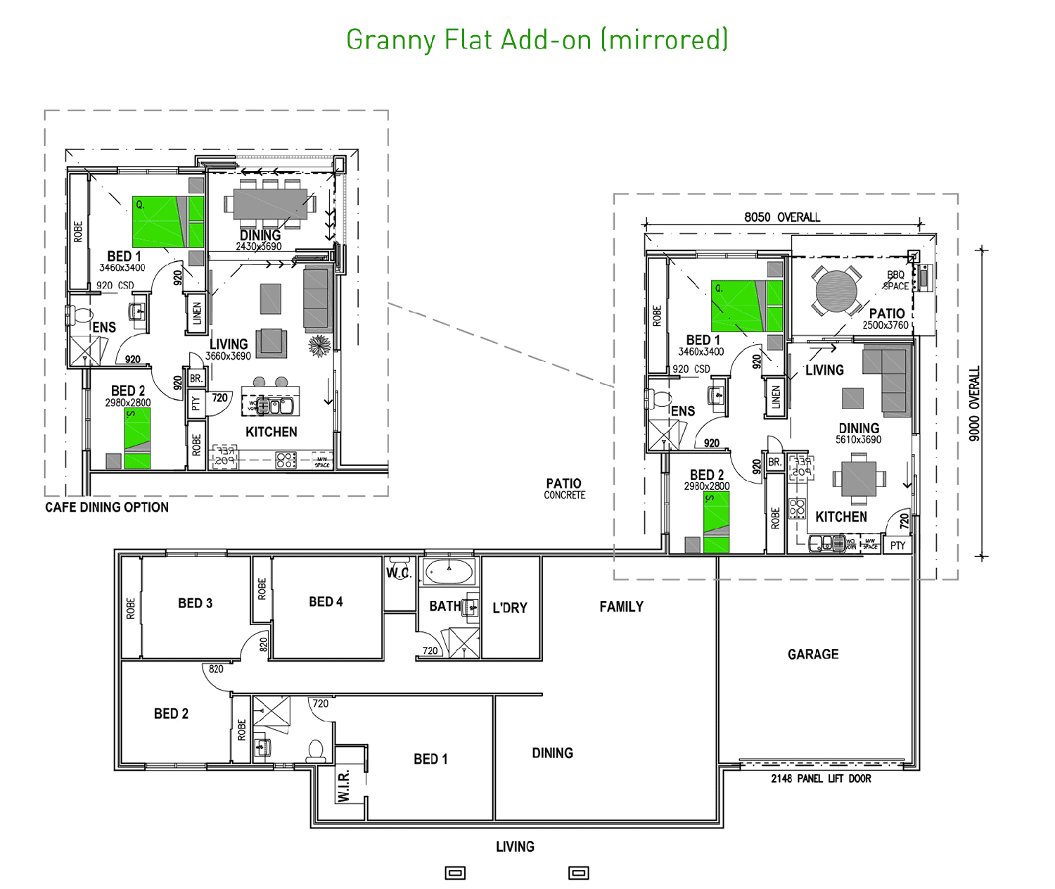 Attached Granny Flats
