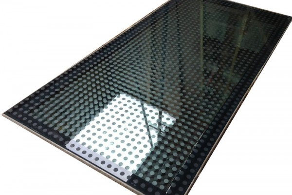 Heavy duty drive on glass floors rooflights