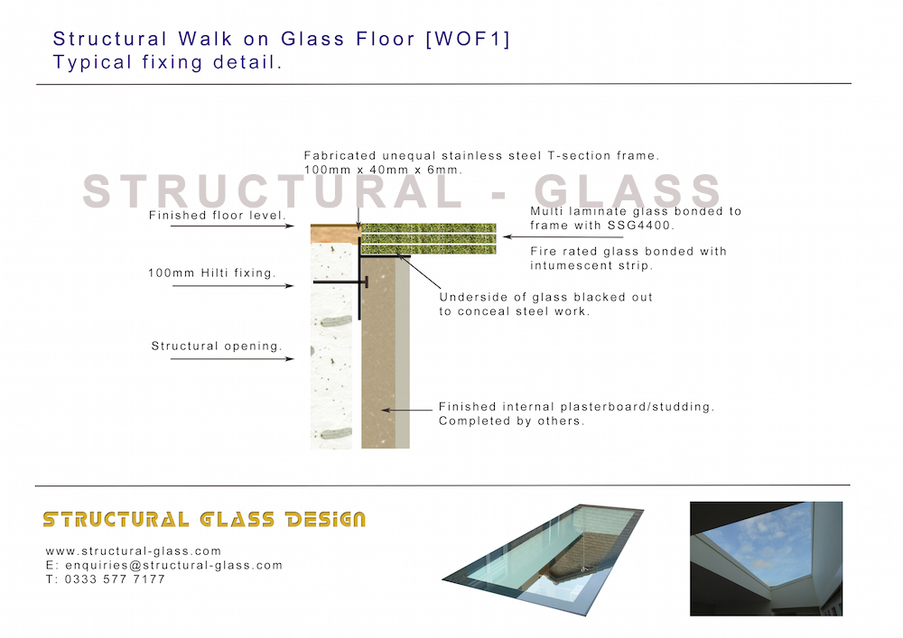 Walk On Glass Floors Rooflights Structural Design