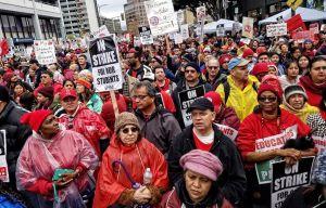 What was won in Los Angeles teachers' strike