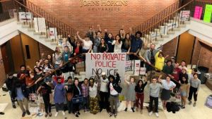 Students and community say no to private police force at Johns Hopkins