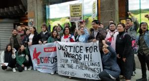 Protests demand justice for farmers killed by police death squads in the Philippines