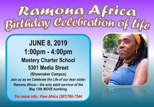 Philadelphia June 8: Ramona Africa birthday celebration