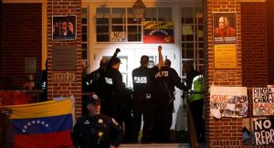 U.S. gov't, cops rip up international law, invade Venezuela embassy