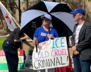 Shouts of 'Abolish ICE!' confront California ICE director