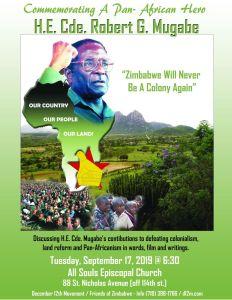 Robert Mugabe memorial in Harlem, Sept. 17