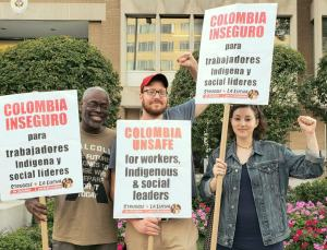 Washington protest says: Don't support Colombia repression with tourism