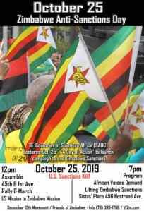 Zimbabwe Anti-Sanctions Day - NYC, Oct. 25
