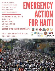 Miami Nov. 16: Protest Saturday for Haitian Rights!