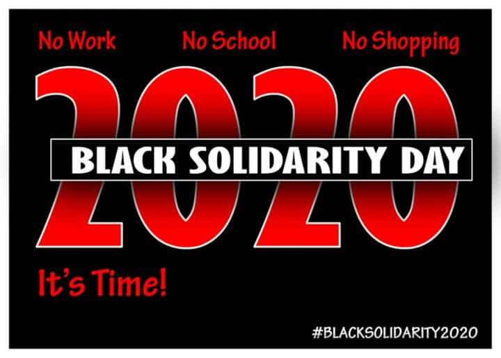 2020 Black History Month Events Nyc.Black Solidarity Day 2020 Begins Now Struggle La Lucha